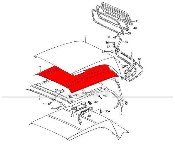 Polstermatte für Verdeck Golf III