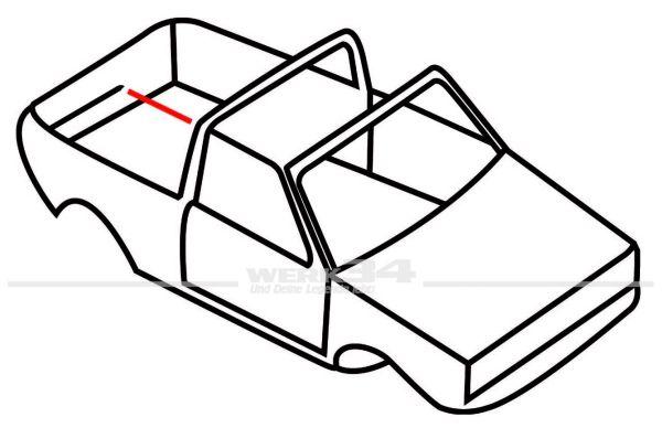 Verdeckdichtung mitte, rechts, passend für Golf I Cabrio