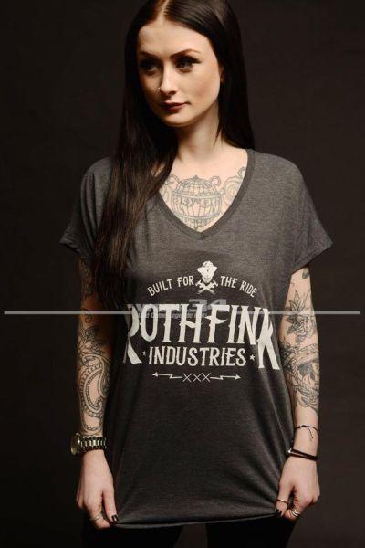 Rothfink Whiskey T-Shirt grau, Damen XL
