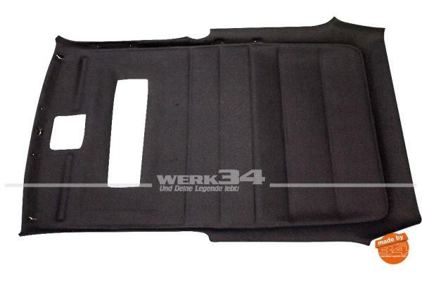 Innenhimmel, passend für Golf II 2-Türer mit Schiebedach, schwarz