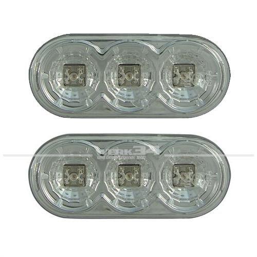 Seitenblinker Klarglas LED Oval