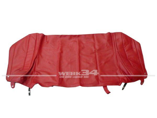 PVC Persenning in rot, passend für Golf I Cabrio