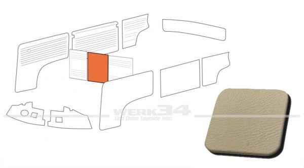 Verkleidung Trennwand ohne Durchgang, hellgrau, passend für T2 Bus 08/68-07/76 Mittelteil