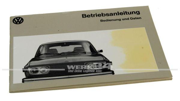 Betriebsanleitung VW 412E Ausgabe August 1972