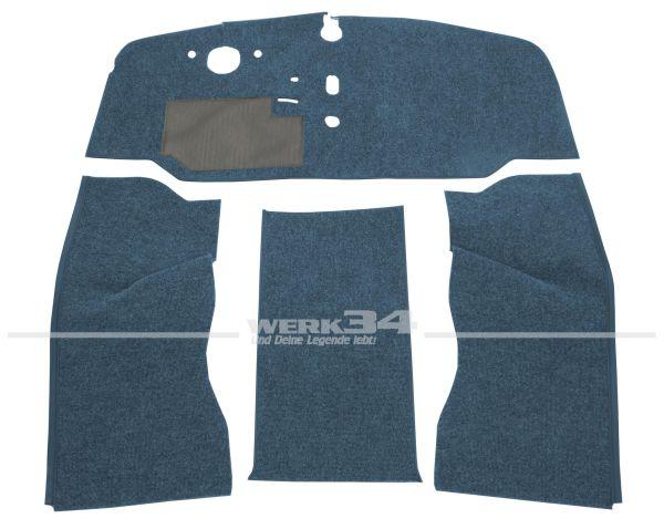 Teppichsatz Schlinge 4-tlg. blau, passend für VW Bus T2 Bj 8/67-7/72