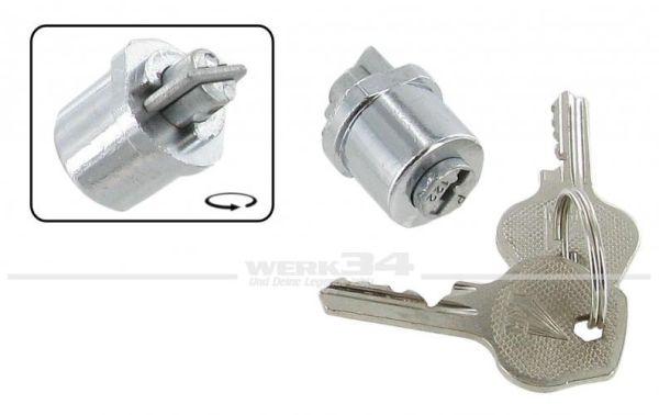 Zündschloss mit Schlüsseln im Armaturenbrett, passend für Käfer bis 09/52 und Bus bis 02/55