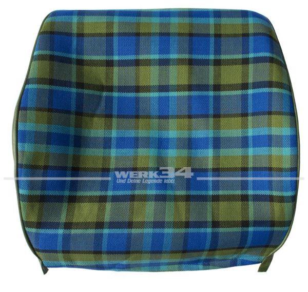 Bezug für Sitzlehne, Rückenteil offen ( z.B. Beifahrerseite ), blau, passend für Westfalia T2B