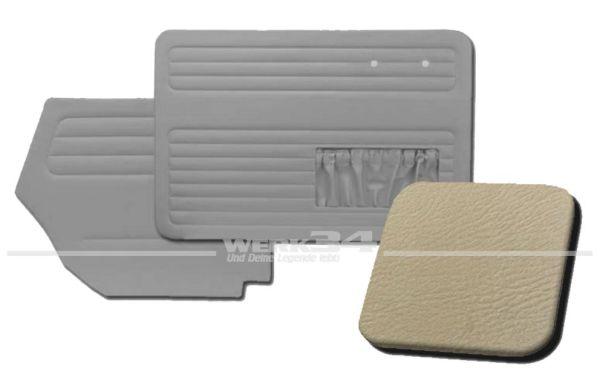 Verkleidungssatz 4-tlg. in Farbe hellgrau, passend für alle Cabrio ab Bj. 8/64-7/66