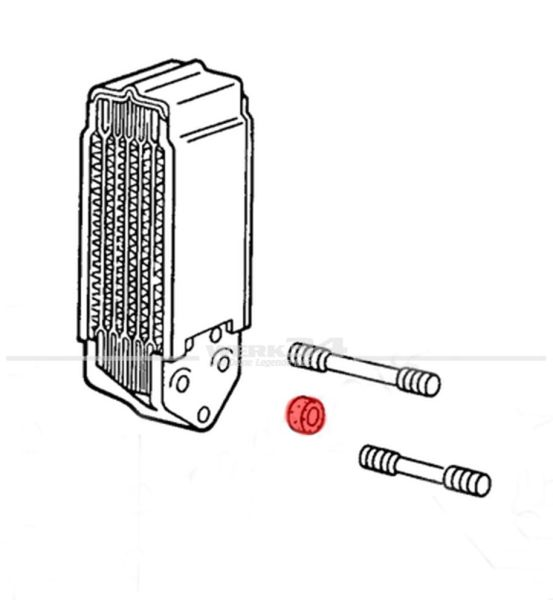 Ölkühlerdichtung Satz (2 Stück) ab Bj. 68 + passend für Golf I GTI