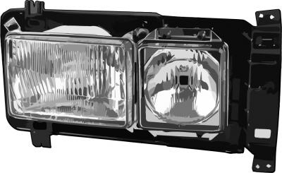 Scheinwerfer VW Lupo schwarz links Klarglas NEU black