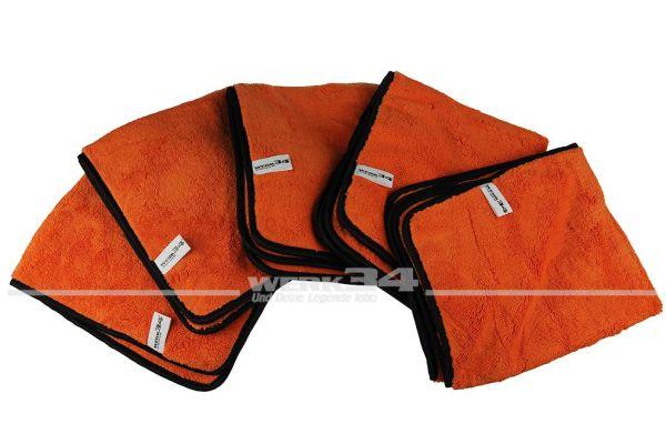 5er Pack - WERK34 Orange Allround Mikrofasertücher 540x440mm