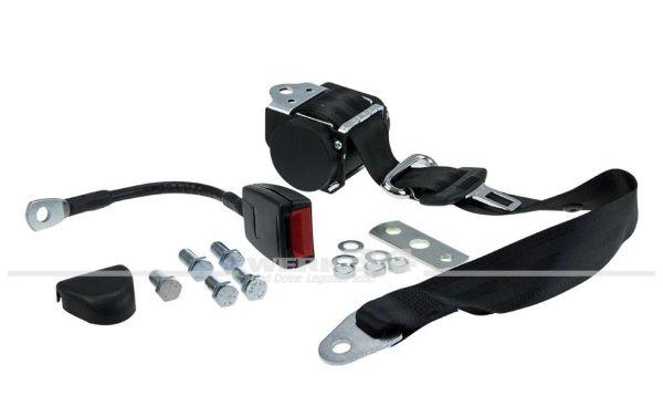 Dreipunkt-Automatik-Rollengurt mit Anbausatz und Gurtpeitsche, mit EU Zulassung Käfer , Bus T1+T2,T14,Typ3