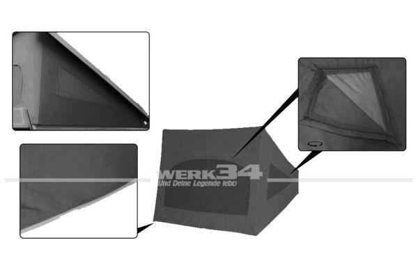 Zelt für Westfalia Hubdach / Klappdach, dunkelgrau, passend für Modelle ab 08/85-