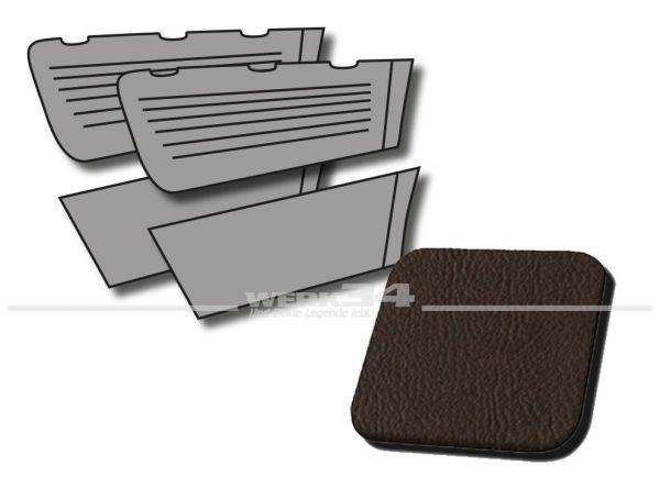 Seitenverkleidungen hinten braun, passend für Typ 3 Limousine, Bj. 1966-73