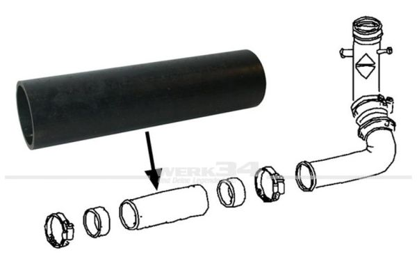 Schlauch zwischen Einfüllstutzen und Tank, passend für Typ3 (ab Bj. 08/67) und Käfer