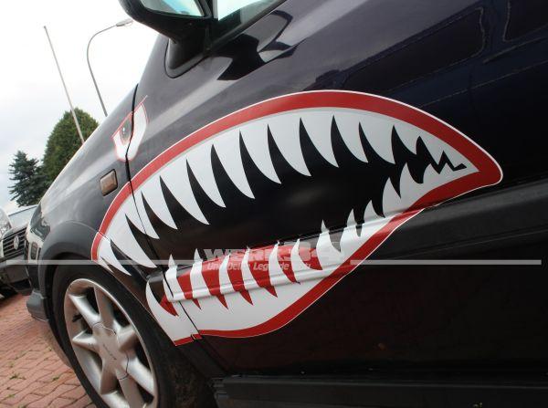 "2x Aufkleber ""Shark"" - 90 cm"