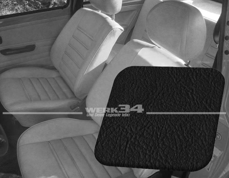 Sitzbezüge schwarz vorne HER VW JETTA 2