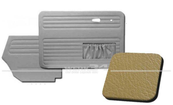 Verkleidungssatz 4-tlg. in Farbe ocker, passend für alle Cabrio ab Bj. 8/66-7/72