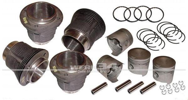 Satz Kolben und Zylinder mit Kolbenringen und Bolzen, 83x69, 1500 32kW-44PS