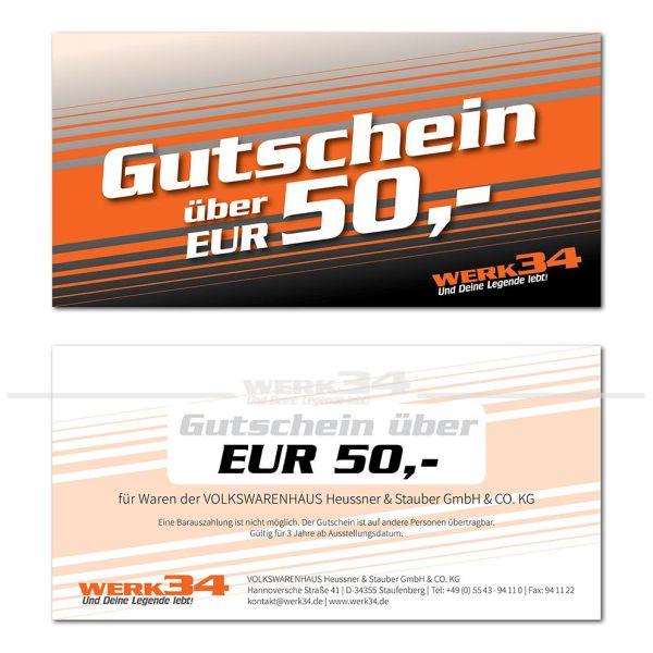Geschenk - Gutschein im Wert von EUR 50,- E-Mail