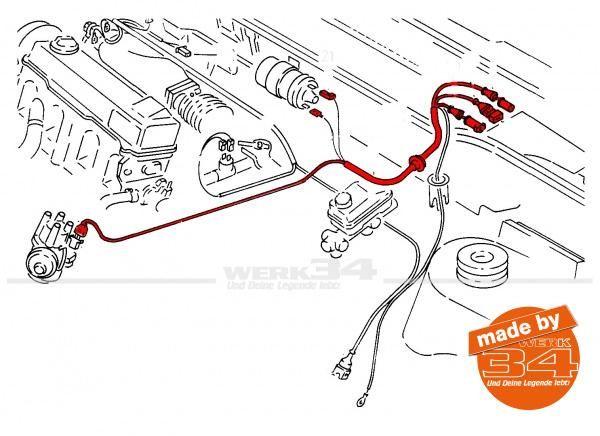 Kabelbaum für Transistor-Zündanlage, passend für Golf I