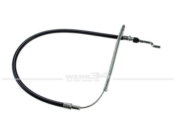 Handbremsseil 844mm für T4, für Fahrzeuge mit Trommelbremse, Bj. 09/90-12/95