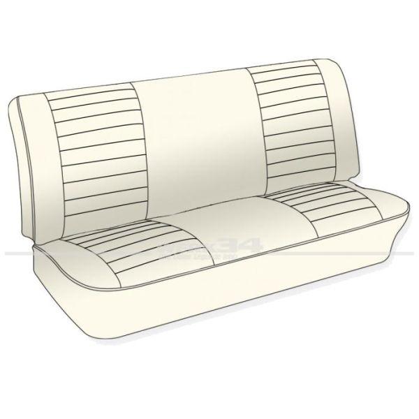 Sitzbezüge hinten, Korbmuster, Satz, Cabrio ab Bj.8/73, Sand, Einzelstück