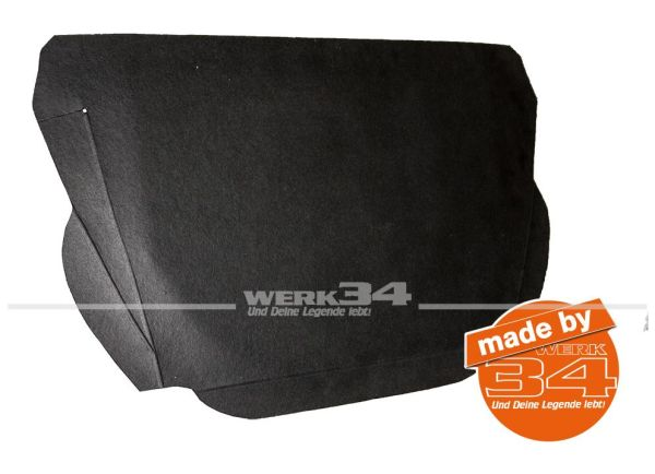 Reserveradabdeckung (Kofferraum Pappe) unten 1302/1303 Cabrio und Limousine Käfer,Kofferraumpappe