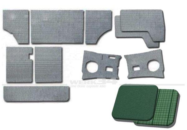 Verkleidungssatz 10-teilig in phosphor/como-grün, passend für Modelle von 08/63-07/67