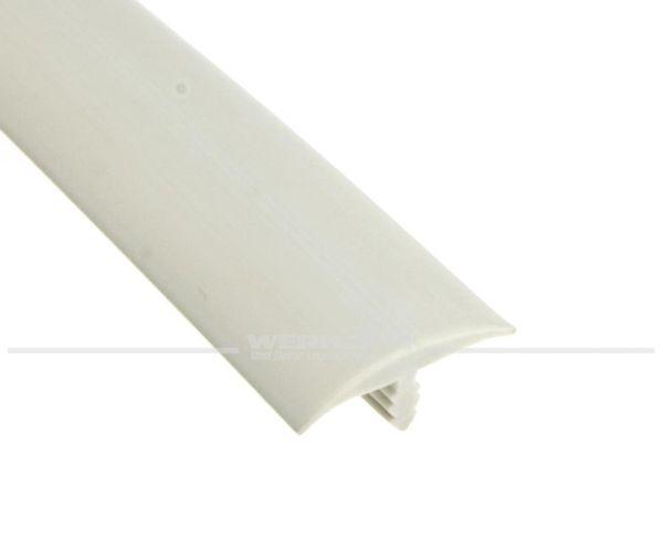 T-Kantenprofil, für 16mm Plattenstärke, gepolstert, lichtgrau, Preis pro Meter
