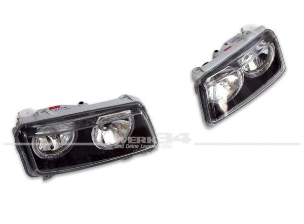 Angel Eyes-Scheinwerfer, schwarz, Passat 35i Facelift