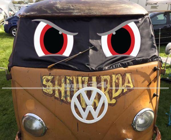 """Fahrerhaus Sonnenschutz """"Angry Eyes"""", passend für Bus T1"""