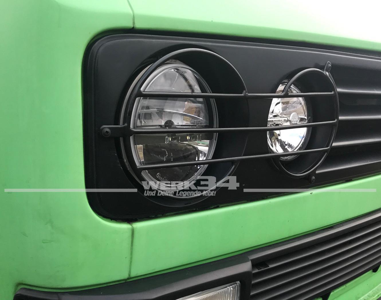 Kühlergrill SCHWARZ Doppelscheinwerfer Rechteckscheinwerfer für VW Bus T3