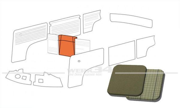 Verkleidung Reserverad in Basaltgrau / Silberbeige passend T1 Bus 08/62 bis 07/67