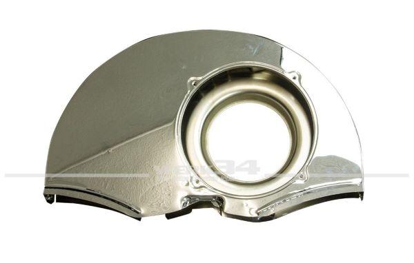 Gebläsekasten, Chrom, im 30 PS Style, mit Heizungsanschluss und Doghouse, passend für 32/37kW (44/50PS)