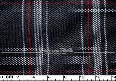 Bezugstoff Schwarz grau rot, Schottenkaro, verbaut z.B. bei Golf VI, Polo GTI, Grundpreis: 49,28 EUR pro m2
