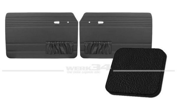 Türverkleidung schwarz, mit Kartentasche, passend für Typ 3 Bj. 1966-73
