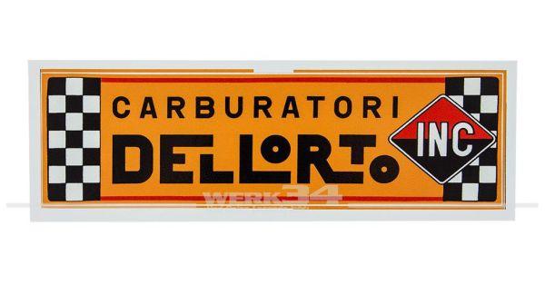 """Aufkleber """"DELLORTO"""""""