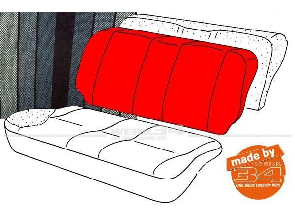 Bezug für Sitzlehne Rücksitzbank, gestreift schwarz/petrol