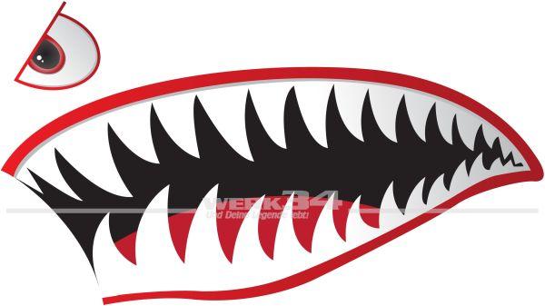 """2x Aufkleber """"Shark"""" Version II - 45 cm"""
