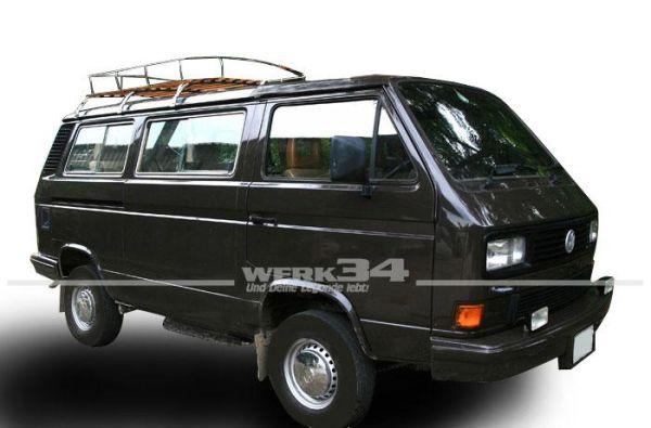Dachgepäckträger Westfalia-Style Nachfertigung in spitzen Qualität, passend für T3, mit 3 Bögen