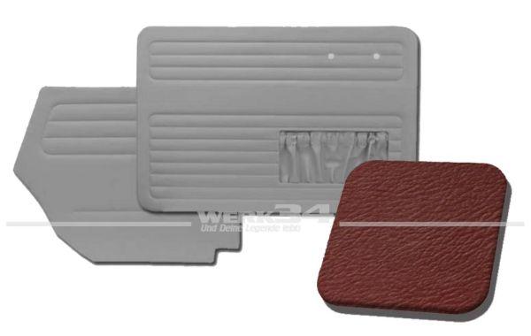 Verkleidungssatz 4-tlg. in Farbe Rot, passend für alle Cabrio ab Bj. 8/64-7/66