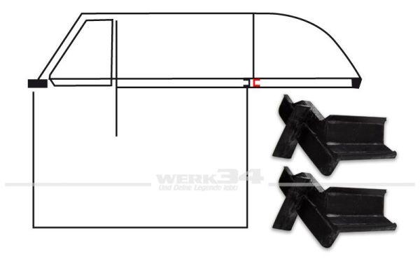Cabrio- Abschlussdichtung Fensterschacht B-Säule bis 07/64, Paar
