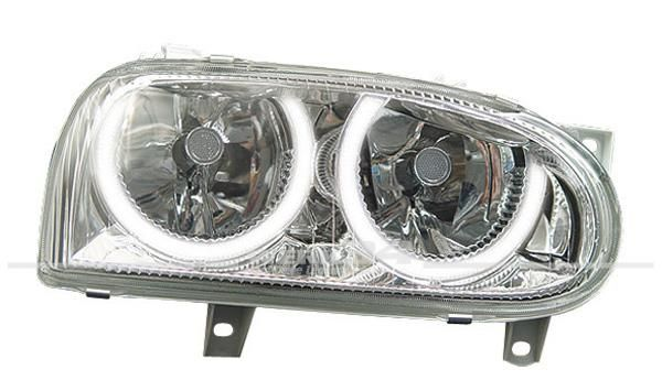 Scheinwerfer Klarglas mit Halb-Standlichtringen Golf III