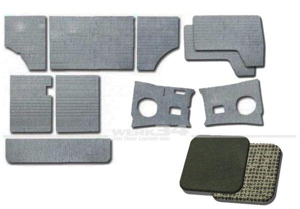 Verkleidungssatz 10-teilig in Dunkelgrau / Gittergrau passend für Modelle von 03/61-07/63B