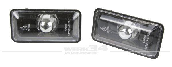Seitenblinker Klarglas schwarz, passend für Golf III