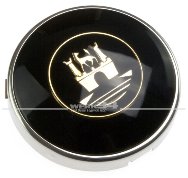 Hupenknopf mit goldenem Wappen passend bis 07/1955 und Banjo/Petri Lenkrad
