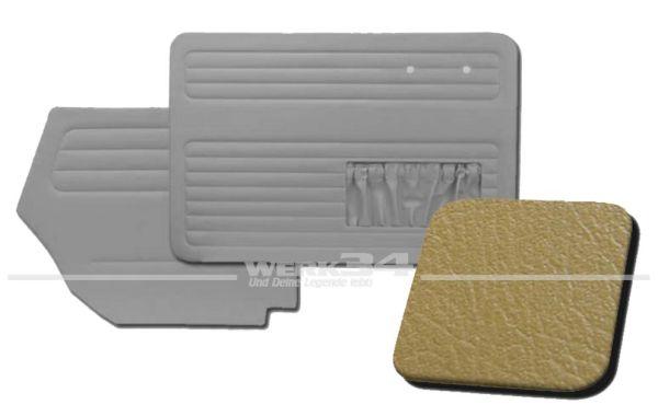 Verkleidungssatz 4-tlg. in Farbe Ocker, passend für alle Cabrio ab Bj. 8/64-7/66