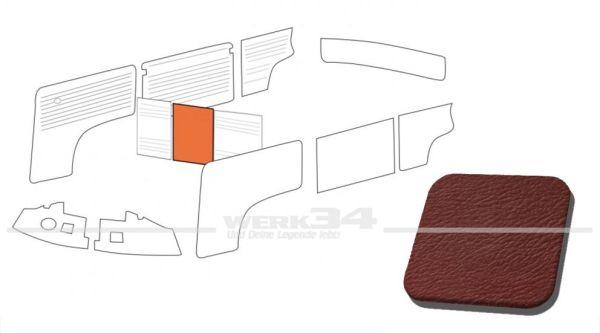 Verkleidung Trennwand ohne Durchgang, rot, passend für T2 Bus 08/68-07/76 Mittelteil