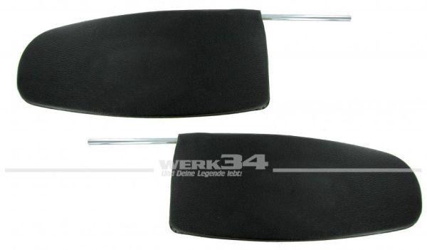 Paar Sonnenblenden für Käfer/ Karmann Ghia Limousine oder Cabrio bis Bj 07/64, schwarz